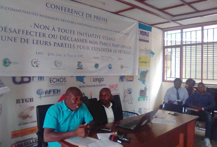 Nord-Kivu: Les organisations de la société civile environnementale expliquent les démarches concernant leur pétition contre l'exploitation du pétrole
