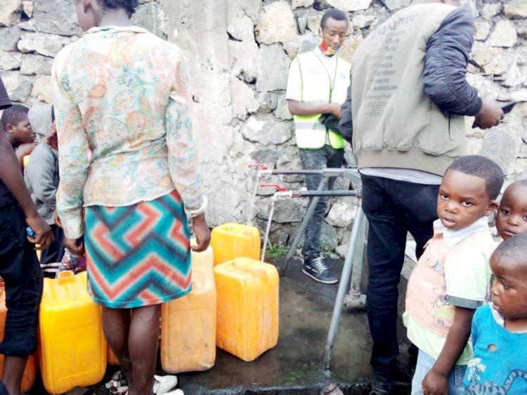 Goma : Quatre quartiers de Goma, desservis en eau potable  grâce à la société YmeJibu