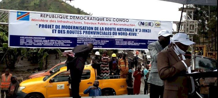Nord-Kivu: Le gouvernement provincial lance les travaux de construction de la route Masisi-Walikale